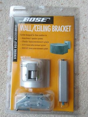 Bose UB-20 Silver Wall/Ceiling Bracket for Lifestyle, 3.2.1, 3.2.1 GS Speakers