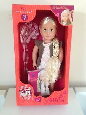 """Our Generation 18"""" doll PIA ,hair to there Pia doll , new & sealed in box/ rare"""