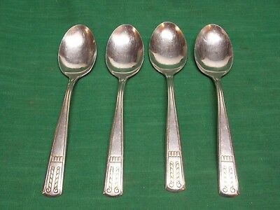 Vintage Providence Elegance stainless flatware Lot of 4 tablespoons Table spoons