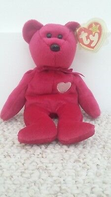 Extremely Rare Date Errors TY Beanie Babies Valentina Bear with Tag Case  Retired 5bf958f77199