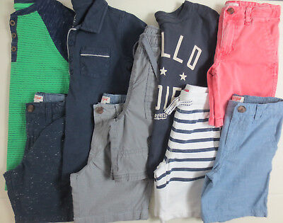 LOT Boys Clothes Size 6 6/7 Spring Summer Outfits Shorts Shirts Mixed Brands