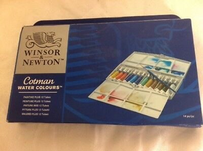 Windsor & Newton Cotman Water Colours Painting Plus 12 Tube Set