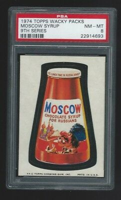 1974 Topps Wacky Packages Moscow Syrup PSA 8 9th series