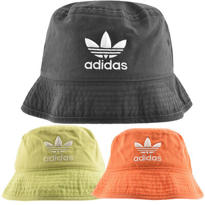 eee03dc731f19 Adidas Originals Washed Bucket Hat Adicolor Embroidered Trefoil Logo Brand  New