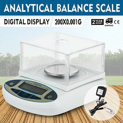 200g x 0.001g Lab Analytical Balance Digital Precision Electronic Scale