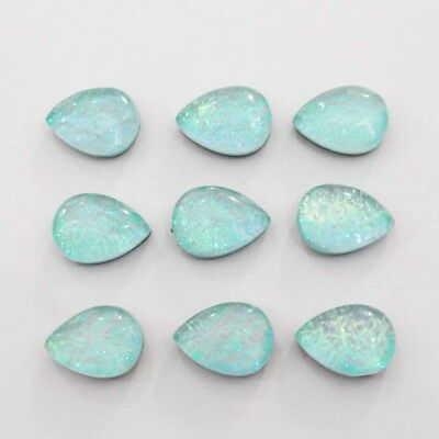 """Excellent """"australian Triplet Opal"""" Radiant Oval Treated Gemstone Cab 10 Pc."""