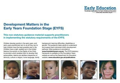 A4 EYFS Development Matters in the Early Years Foundation Stage PRINTED COPY