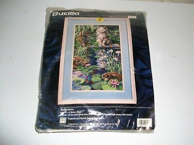 Bucilla-Reflection (Cat) Needlepoint Kit #4721-1996 By Nancy Rossi