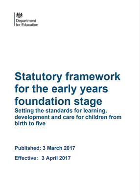 A5 EYFS Statutory Framework for the Early Years Foundation Stage PRINTED COPY