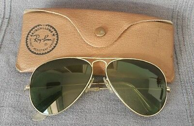 Authentic Vintage B&L Ray Ban USA AVIATOR Gold Filled 1/30-10K GO Sunglasses