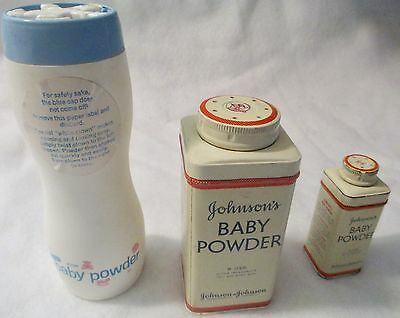 Vintage Johnson's Baby Powder Containers and Avon Baby Powder Container