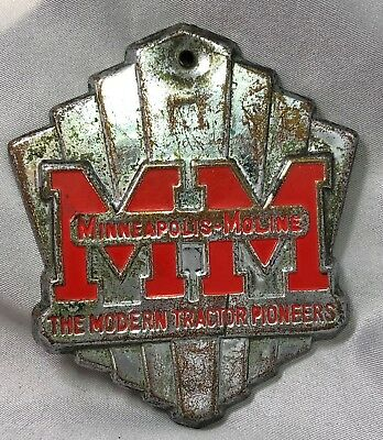 MINNEAPOLIS MOLINE Modern TRACTOR Pioneers EMBLEM Farm VINTAGE Original