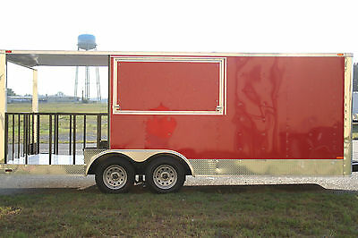 8.5x20 8.5 X 20 Enclosed Concession Food Vending BBQ Trailer 6' Porch Any Color