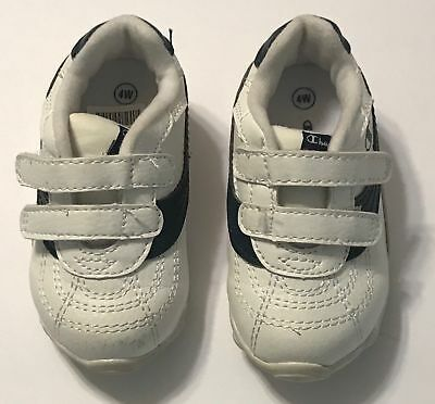 50daa9d1e9cbe6 Champion Athletic Shoes Tennis White Size 4W Toddler Baby Hook  n Loop  Closure