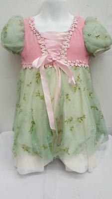 Dance Costume XS Child Green Pink Princess Ballet Dress Solo Competition Pageant