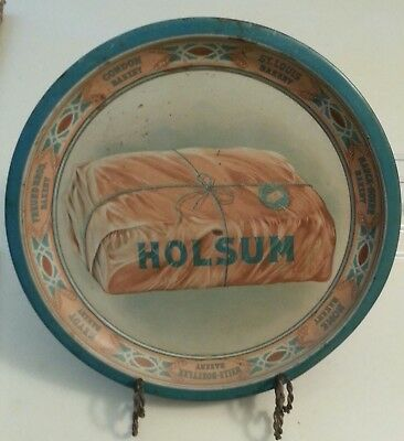 Nice Original Tin Litho Advertising  Serving Tray Plate Holsum Bakery Bread