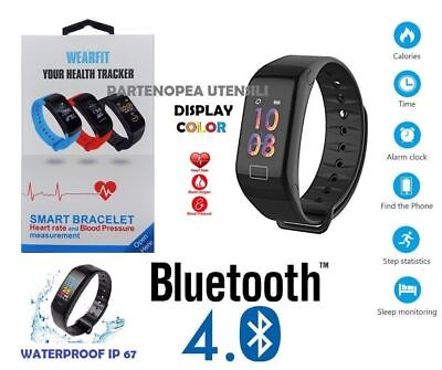Smart watch Smart orologio Wearfit Bracciale ANDROID IOS BLUETOOTH Segnapassi
