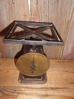 Vintage Antique American Family Scale Kitchen 24 Pound Metal