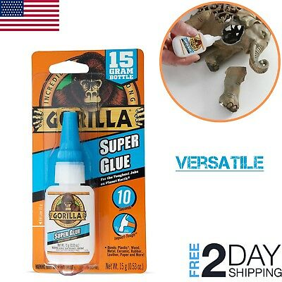 Gorilla Super Glue Gel Clear Waterproof 15 shoe Metal Plastic Wood Rubber Glass