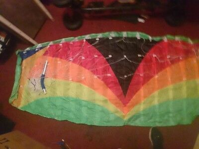 2.2m Quad Line Power kite with MBS mountain board