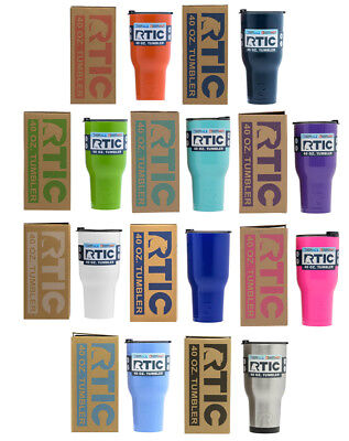 NEW RTIC Hot Cold Double Wall Vacuum Insulated Tumbler 40oz MANY COLORS