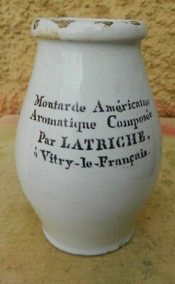 ancien pot a moutarde américaine  par LATRICHE vitry le francois
