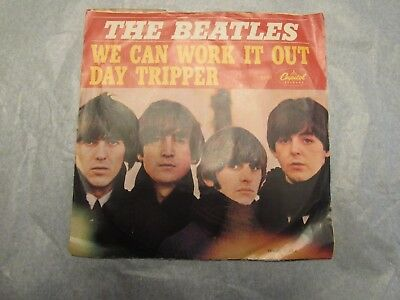 The Beatles We Can Work It Out Day Tripper 45 rpm Picture Sleeve capitol 5555