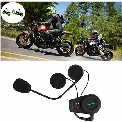 500M BT Bluetooth FM Radio Motorcycle Helmet Intercom Interphone Headset NM