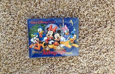 DISNEY Parks AUTOGRAPH Book OFFICIAL DISNEY World MICKEY MOUSE & Friends NEW