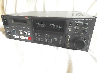 Sony PCM 7040 DAT Recorder - High End Professional Broadcast - perfectly working