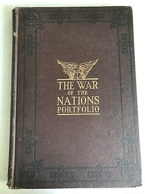 Antique 1919 The War Of The Nations Portfolio In Rotogravure Etchings
