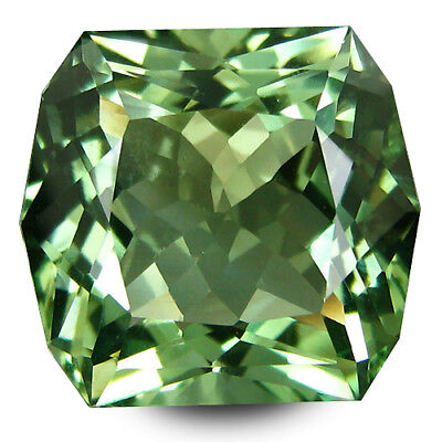 11.38Cts Outstanding Fire Natural Green Amethyst Cushion Custom Cut Gemstone