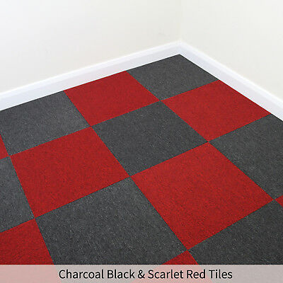 20 x  Red Carpet Tiles 5m2 Heavy Duty Commercial Office Home Premium Flooring