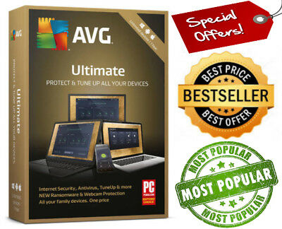 AVG 2019 Ultimate Protection 1 Year +devices Windows/Mac/Android 🔓Global Key🌎