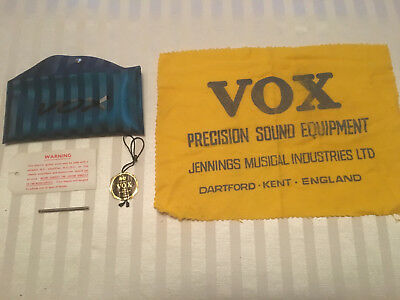 VOX Vintage Polishing Cloth, Pouch, Truss Rod Tool and Tags