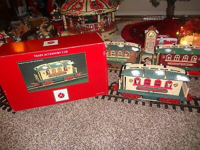 Dillards Holiday Express REINDEER STABLE Rare RED SIGN car w/ Box New Bright