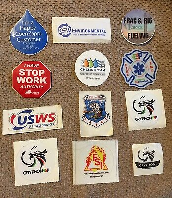 12 Oilfield Gas Safety Company Hard Hat Stickers