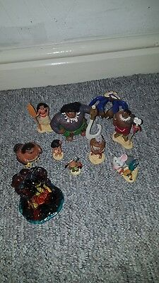 10 Pcs Set  Moana / Vaiana Figures Figurines Toys Cake Toppers Official Disney