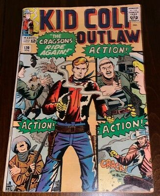 Kid Colt Outlaw #120 1965 Silver age Marvel Western Comic