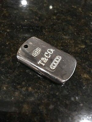 Tiffany & Co. 1837 Ingot Dog Tag Pendant Sterling Silver 925