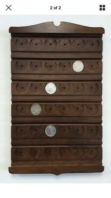 Hanging Walnut Coin Display/ Holder For- Morgan, Peace, Military, Silver Dollars