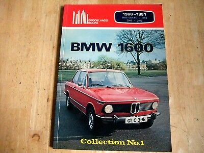 BMW 1600 1966 - 1981 Book by Brookland Books 1600 1602 2000 2002 models