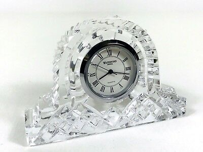 Waterford Small Mantel Crystal Clock - Needs new battery