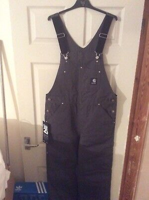 Carhartt WIP Dungarees/Bib Overalls, Limited Edition 25. Legacy Grey 33 x 34