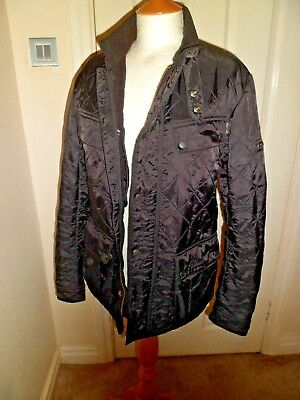 BARBOUR Int. Windshield Tailored Fit Black Quilted Jacket Small WORN ONCE  £189