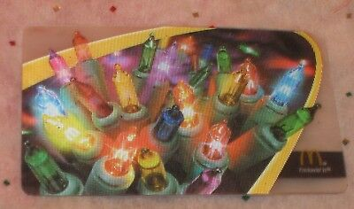McDonald's Arch Collectible Gift Card Christmas Lights Flicker Moving NO VALUE