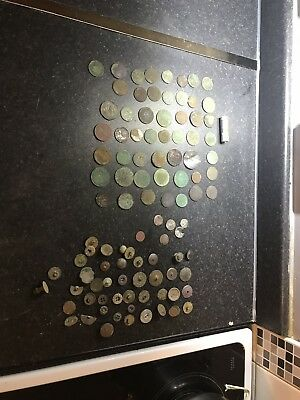 Metal Detecting Finds Coins And Buttons