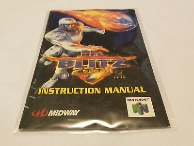 N64 NFL Blitz 2001 Manual Instruction Booklet OEM official authentic football