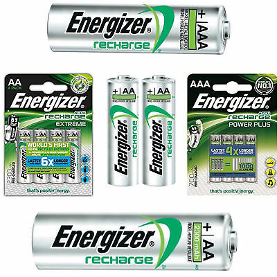 Energizer AA / AAA Rechargeable Batteries NiMH Pre Charged HR03 HR6 HR22