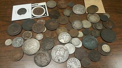 OLD 1700-1800's COLLECTION OF RARE FOREIGN COINS***** MANY SILVER